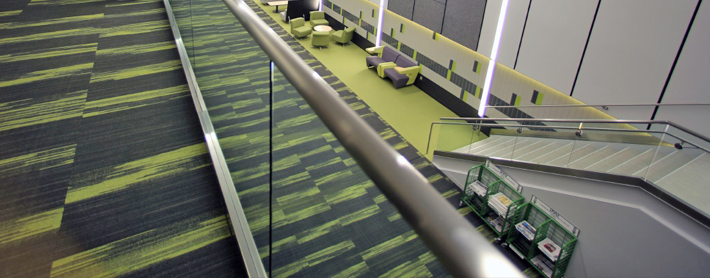 green and black commercial carpet