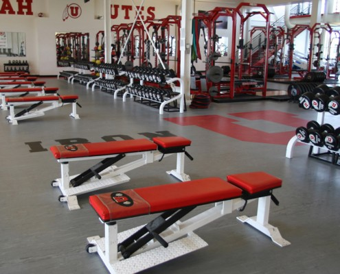 gym flooring and weight room floor at the university of utah