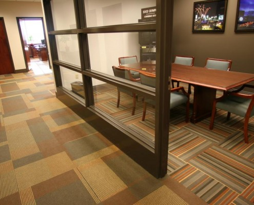 corporate commercial flooring in office