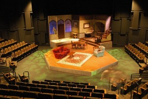 commercial flooring in the stephens performing arts center