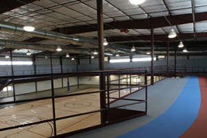 indoor running track and basket ball court flooring